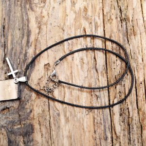 leather cross necklace  from Holy Land