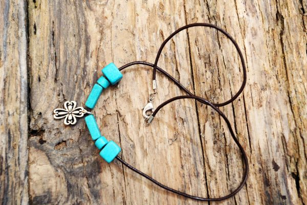 Cross leather mala necklace from Holy Land