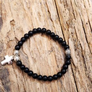 Onix cross bracelet from Holy Land
