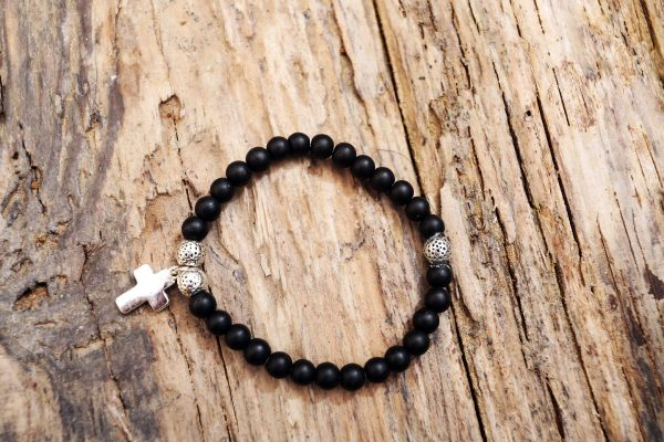 Onix cross bracelet from Holy Land