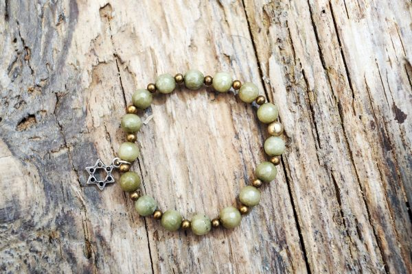 Jade star David bracelet from Holy Land